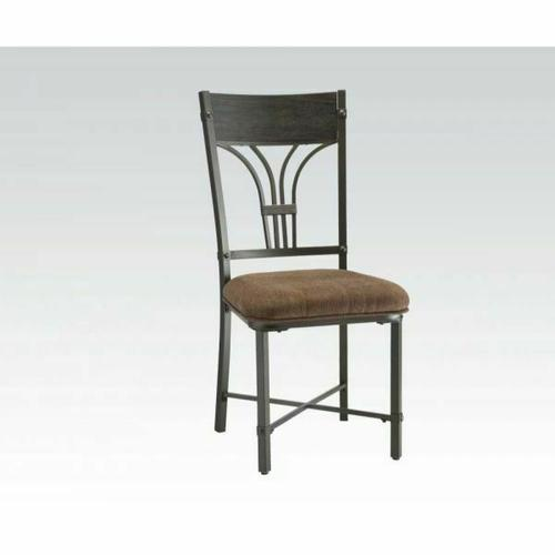 Acme Furniture Inc - ACME Kipp Side Chair (Set-2) - 72247 - Fabric & Antique Black