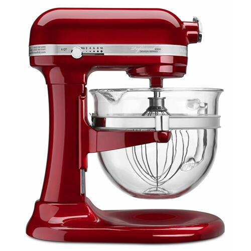 KitchenAid - Professional 6500 Design™ Series 6 Quart Bowl-Lift Stand Mixer - Candy Apple Red