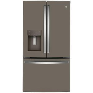 GE® ENERGY STAR® 22.1 Cu. Ft. Counter-Depth French-Door Refrigerator - FINGERPRINT RESISTANT SLATE