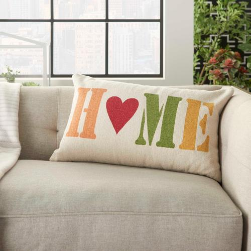 "Home for the Holiday Dl511 Multicolor 14"" X 22"" Throw Pillow"