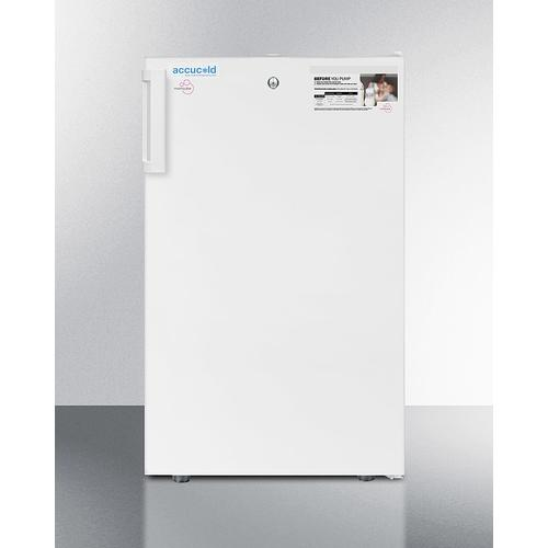 """20"""" Wide Counter Height Momcube All-freezer for Storage of Breast Milk, Manual Defrost With Lock and Reversible Door"""
