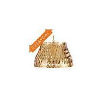 See Details - Antique Brass Modern Basket Weave Chandelier