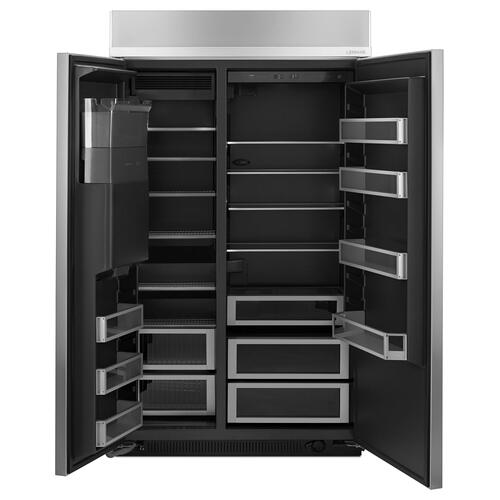 "48"" Built-In Side-by-Side Refrigerator with Water Dispenser Stainless Steel"