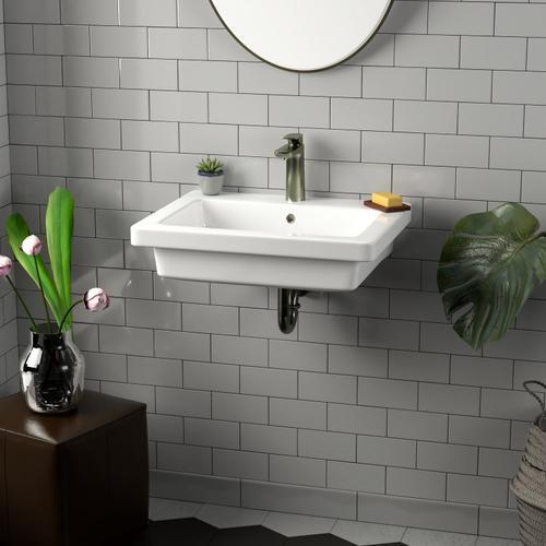 "Resort 550 Wall-Hung Basin - 4"" Centerset"