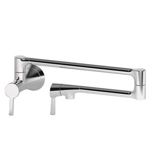 Satin Nickel - PVD Pot Filler - Wall Mount