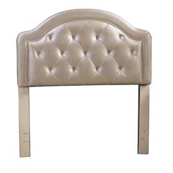 Karley Twin-size Headboard, Champagne Faux Leather