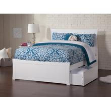 Metro Full Bed with Matching Foot Board with 2 Urban Bed Drawers in White