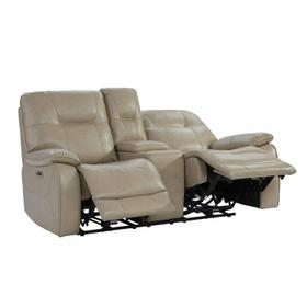 AXEL - PARCHMENT Power Console Loveseat