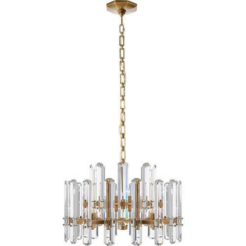 AERIN Bonnington 12 Light 24 inch Hand-Rubbed Antique Brass Chandelier Ceiling Light