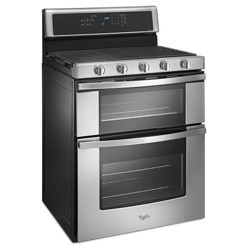 Whirlpool Canada - Whirlpool® 6.0 Cu. Ft. Gas Double Oven Range with Center Oval Burner