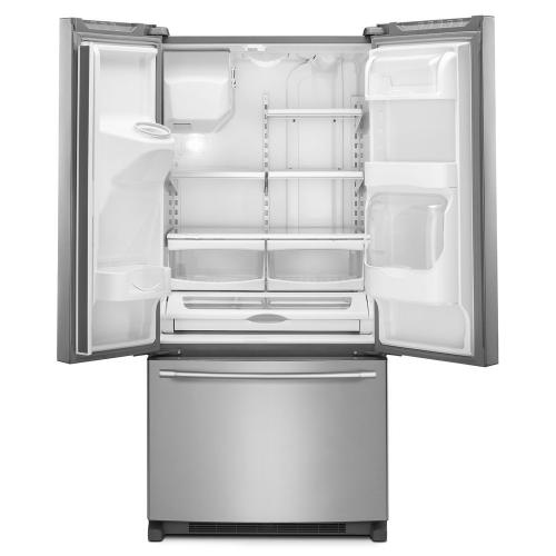 Maytag® 33- Inch Wide French Door Refrigerator with Beverage Chiller Compartment - 22 Cu. Ft.