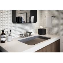Black Stainless Two Handle Widespread Bathroom Faucet