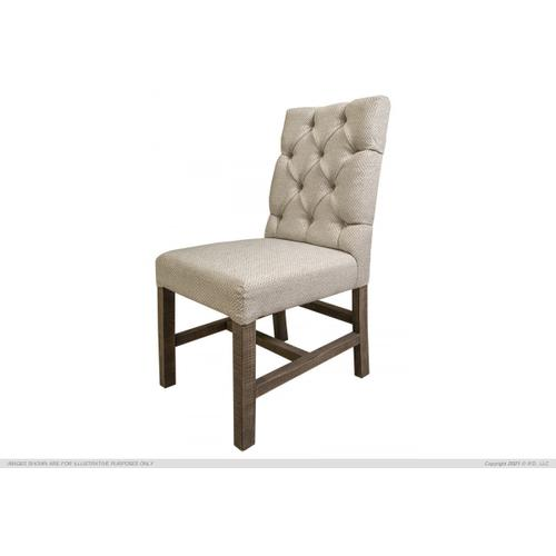 See Details - Tufted Chair, Ivory Fabric