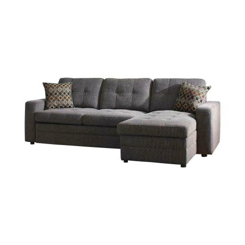 Coaster - Gus Casual Charcoal Sectional