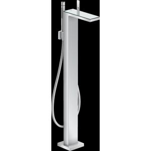 Chrome / Mirror Glass Freestanding Tub Filler Trim with 1.75 GPM Handshower