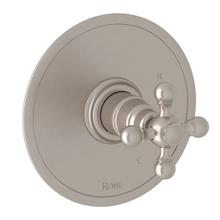 Arcana Pressure Balance Trim without Diverter - Satin Nickel with Cross Handle