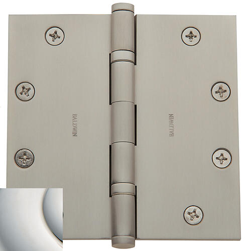 Polished Nickel with Lifetime Finish Ball Bearing Hinge