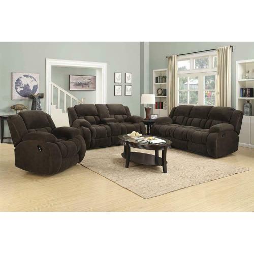Weissman Brown Three-piece Living Room Set