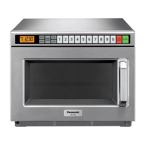 Panasonic - 2100 Watt Compact Commercial Microwave Oven with 60 Programmable Memory Pads NE-21521