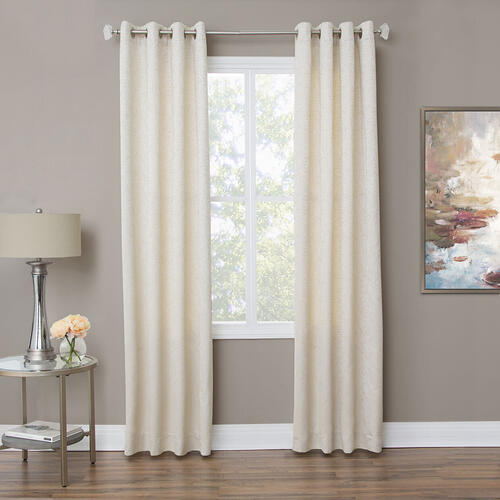 Amini - Aspen 50x84 Grommet Top PanelWeighted Corners Champagne
