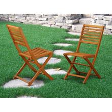Solid Acacia Solid wood Outdoor-Furniture Side Foldable Chair-Set of two