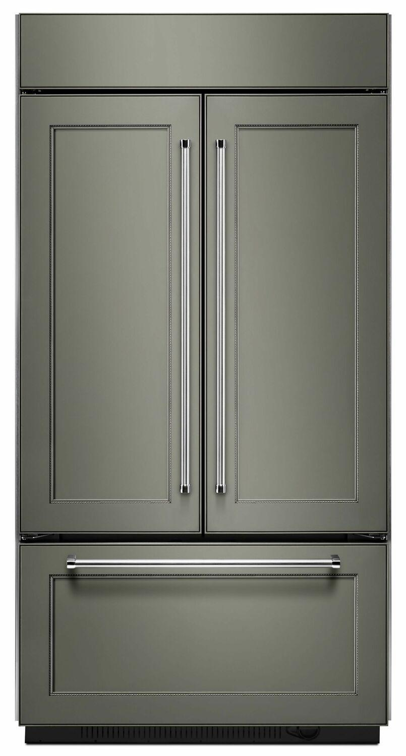 """Kitchenaid20.8 Cu. Ft. 36"""" Width Built In Panel Ready French Door Refrigerator With Platinum Interior Design - Panel Ready Pa"""