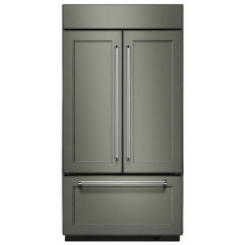 """KitchenAid - 20.8 Cu. Ft. 36"""" Width Built In Panel Ready French Door Refrigerator with Platinum Interior Design - Panel Ready PA"""