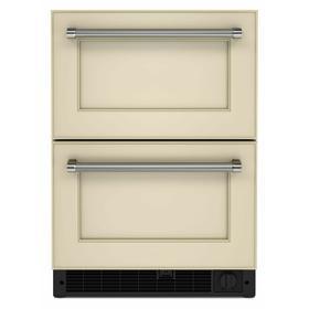 "24"" Panel-Ready Undercounter Double-Drawer Refrigerator/Freezer - Panel Ready PA"