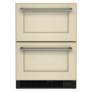 """KitchenAid24"""" Panel-Ready Undercounter Double-Drawer Refrigerator/Freezer - Panel Ready PA"""