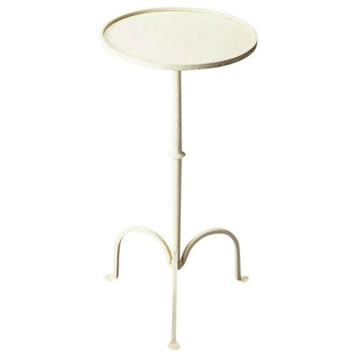 Butler Specialty Company - This pedestal end table is the perfect companion for your elegant sofa set. Place it against the end of your sofa or beside the armchair to bring out the best in its beauty. The sleek and stylish design of this table is a sure shot winner in any type of surrounding. The pedestal end table is made entirely out of metal and offers a study base on the floor. The surface area of the table is small; however, it is perfect for keeping small lampshade or flower vases.