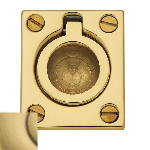 Baldwin - Satin Brass and Brown Flush Ring Pull