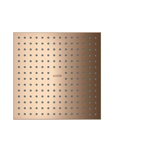 Polished Red Gold Overhead shower 250/250 2jet ceiling