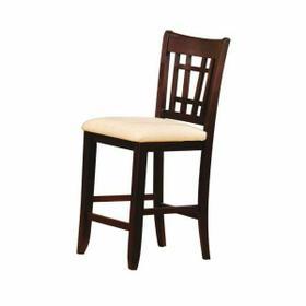 ACME Lugano Bar Chair (Set-2) - 07676 - Fabric & Dark Walnut