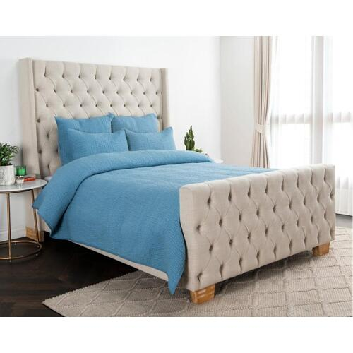 Danica Bluebell 4Pc King Quilt Set