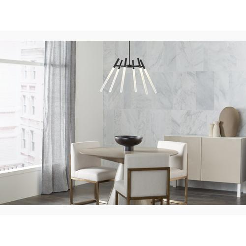 Modern Brushed Gold Six-light LED Chandelier