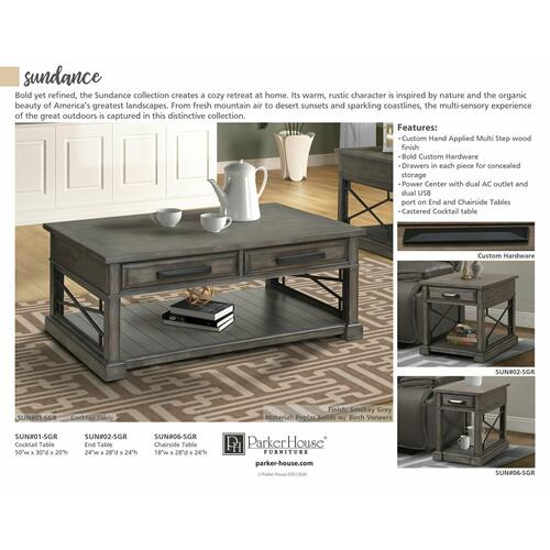 Parker House - SUNDANCE - SMOKEY GREY Everywhere Console Table
