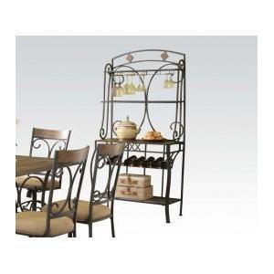 Acme Furniture Inc - Baker's Rack W/slate Decor