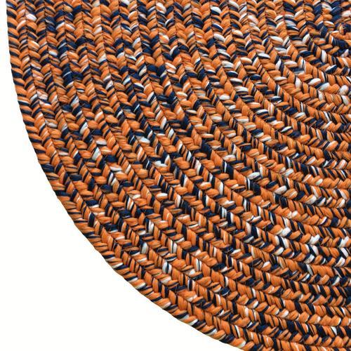 Team Spirit Orange Navy Braided Rugs