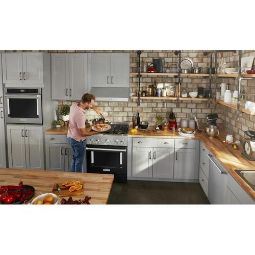 KitchenAid - KitchenAid® 30'' Smart Commercial-Style Gas Range with 4 Burners - Imperial Black