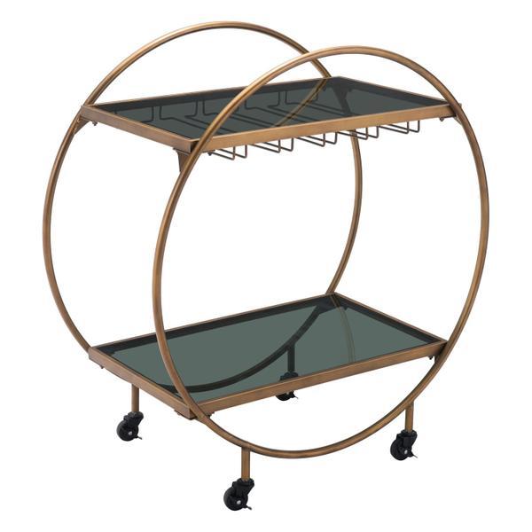 See Details - Arc Bar Cart Gold & Black