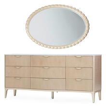 Dresser W/wall Mirror 2pc Blush