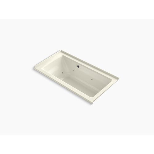 """Biscuit 60"""" X 30"""" Alcove Whirlpool Bath With Bask Heated Surface, Integral Flange, and Right-hand Drain"""