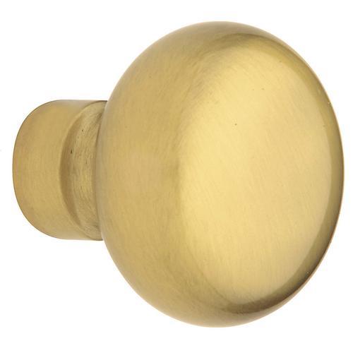 Baldwin - Satin Brass and Brown 5030 Estate Knob