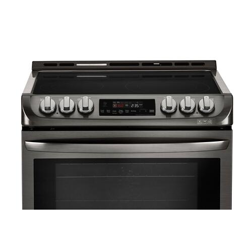 LG Canada - 6.3 cu.ft. Black Stainless Steel Series Electric Slide In Range with ProBakeConvection™
