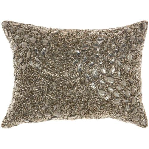 "Luminescence Z5000 Pewter 10"" X 14"" Throw Pillow"