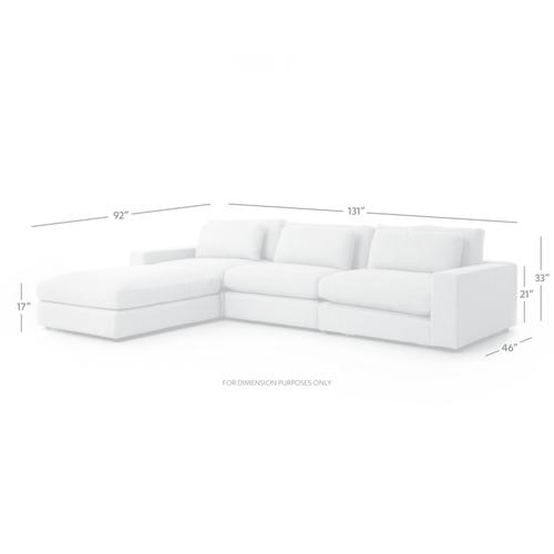 Bloor Sofa W Ottoman Kit-chess Pewter