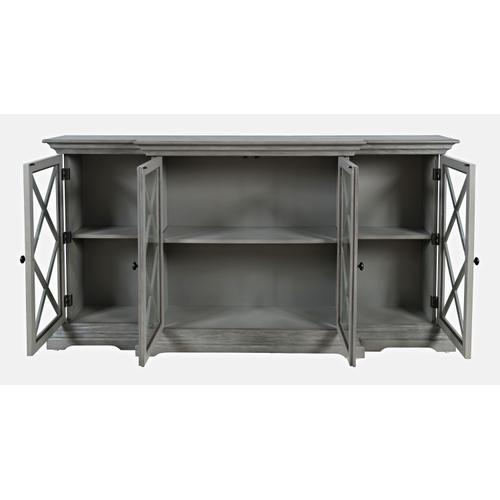 Carrington Large Breakfront Cabinet - Grey
