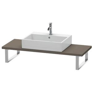 Console For Above-counter Basin And Vanity Basin Compact, Flannel Gray Satin Matte (lacquer)