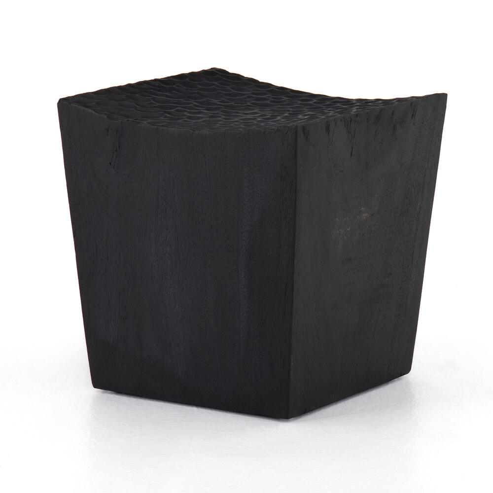 Lief Accent Stool-carved Black Suar