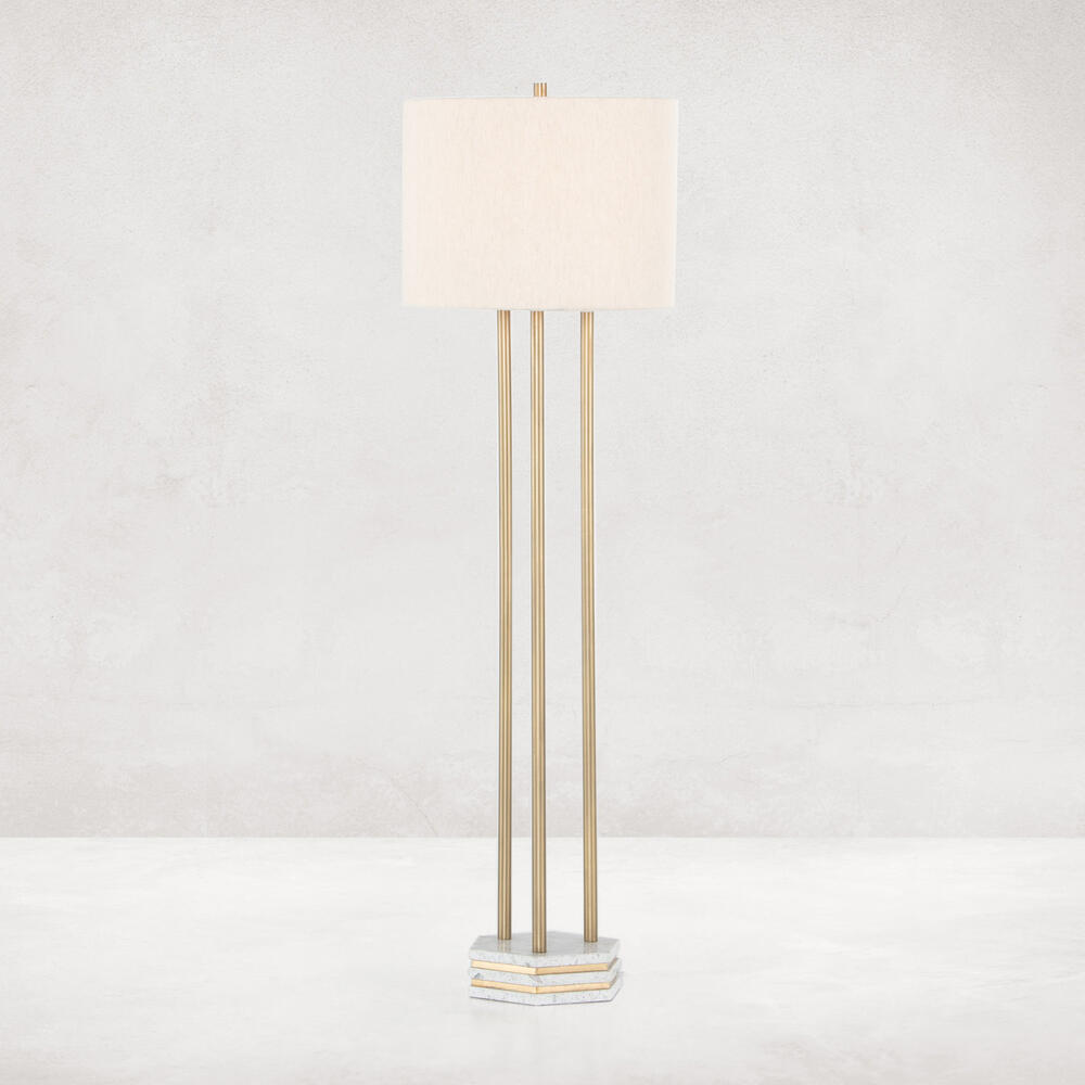 Amelie Floor Lamp-antique Brass
